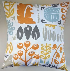 "Cushion Cover in Scion Woodland Orange 14"" 16"" 18"" 20"""